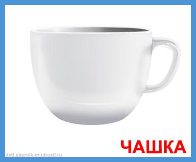 чашка - картинки посуды для детей