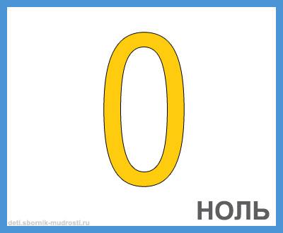цифра 0 в картинках для детей