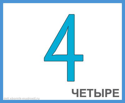 цифра 4 в картинках для детей