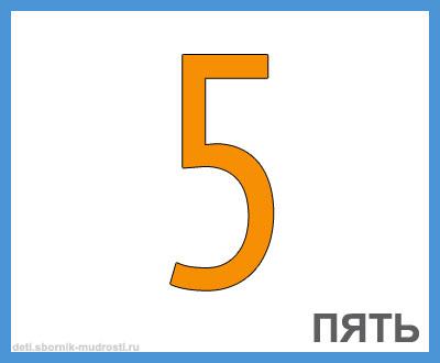 цифра 5 в картинках для детей