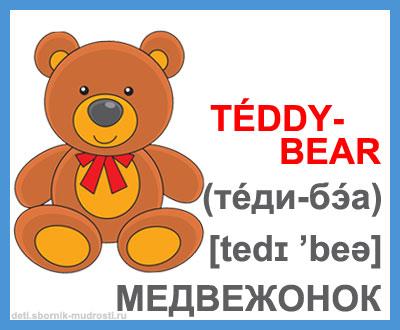 медвежонок - игрушки на английском языке