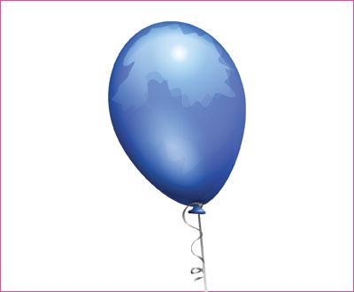 шарик синий