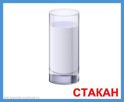 стакан - картинки посуды для детей